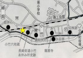 抱き石地蔵地図
